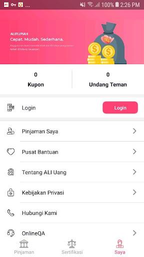 ALI Uang - Pinjaman Uang Tunai Mudah Flash Cepat screenshot 5
