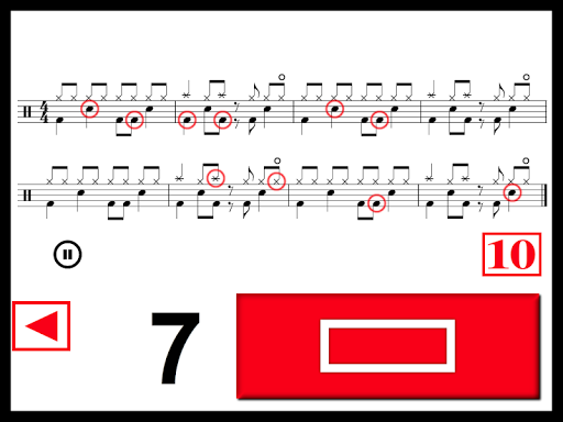 Drums Sheet Reading PRO Aplicaciones para Android screenshot