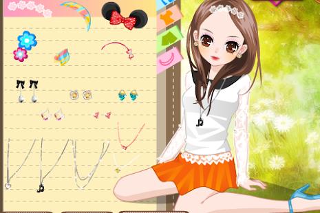 Lovely Anime Girl Dress up screenshot