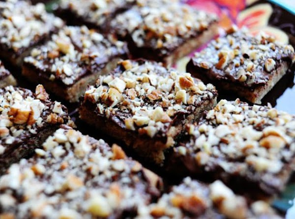 Chocolate Walnut Toffee Bars Recipe