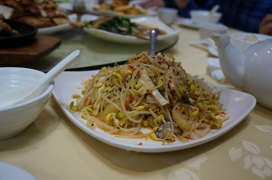 Spicy soy bean sprouts