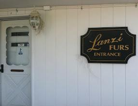 Photo: Lanzi Furs, Inc. Ltd. in Johnston, RI proudly displaying their BBB Accreditation.