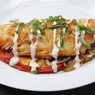 2. Stuffed Hashed Brown Omelette