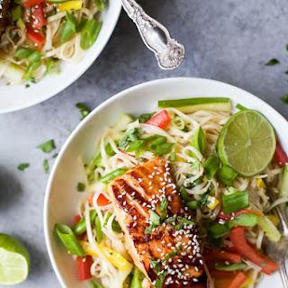 Teriyaki Salmon with Asian Noodle Salad.