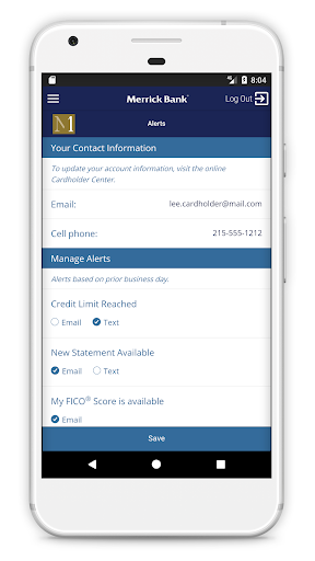 Merrick Bank Mobile Screenshot