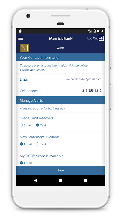 Merrick Bank Mobile- screenshot