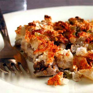 Eggplant and Green Pepper Kugel.