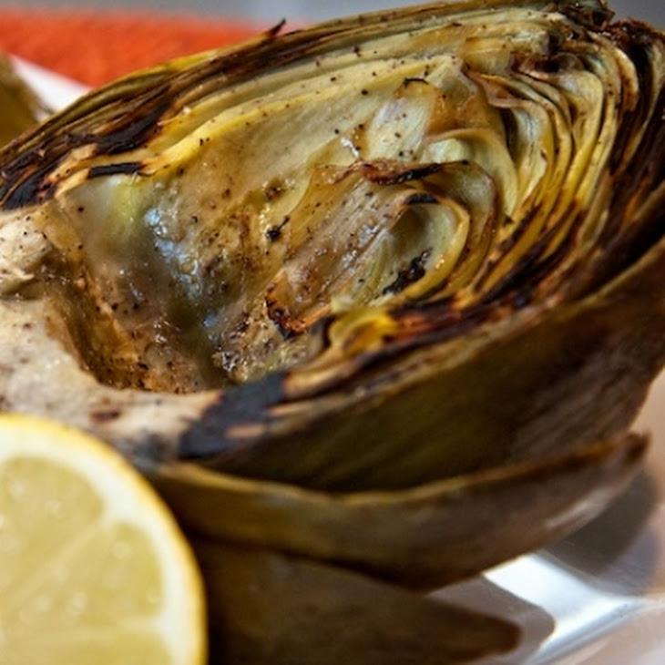 Grilled Artichokes with Caper Aioli Recipe