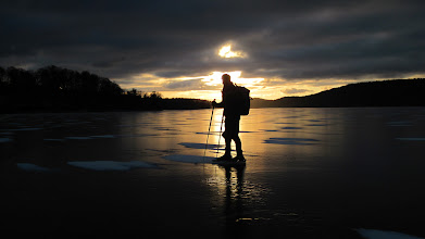 Photo: 013 .. licht en donker.. overweldigende avondstemming op het ijs