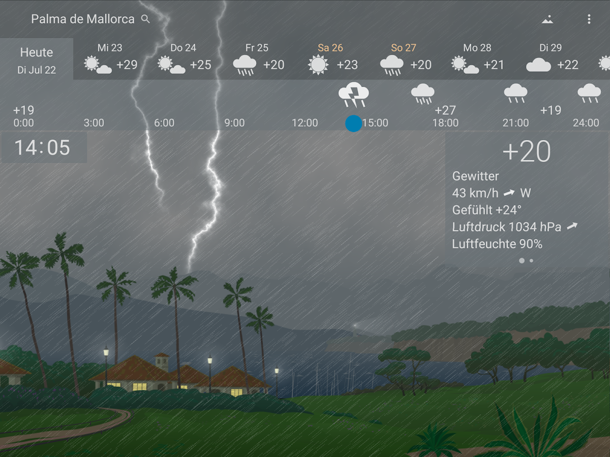Genaues Wetter YoWindow – Screenshot