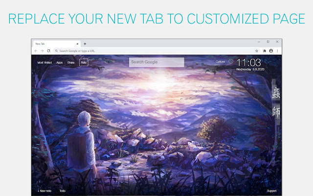 Mushishi Wallpaper HD Mushishi Anime New Tab