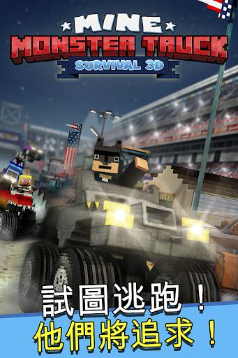 Mine Monster Truck Survival 3D