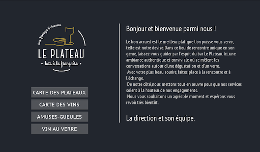 Menu bar Le Plateau- screenshot thumbnail