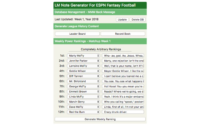 LM Note Generator For ESPN Fantasy Football