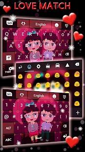 Téma lásky klávesnice - náhled