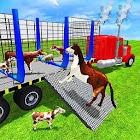 granja animal transporte camión 3d icon