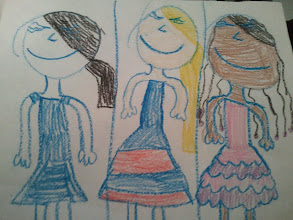 Photo: Kaleya's friend drew this picture. Guess which one is Kaleya?