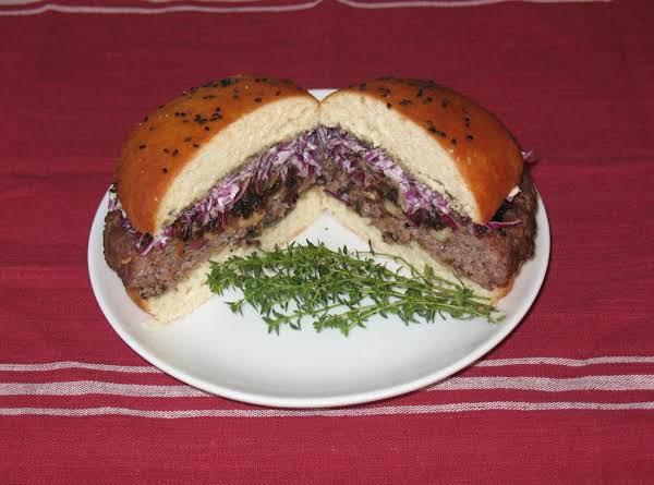 Ribeye Burger With Bacon-black Garlic Chutney