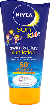 Nivea Sun Kids Swim & Play Sun Lotion - 50+ Very High, 150ml