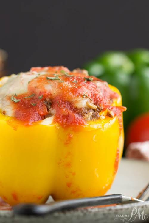 """Instant Pot Stuffed Bell Peppers""""These delicious Instant Pot Stuffed Bell Peppers make..."""