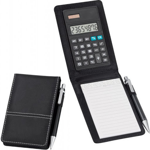 Pocket Jotter Note Pad & Calculator