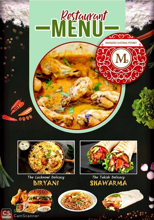 The Manish Eating Point menu 3