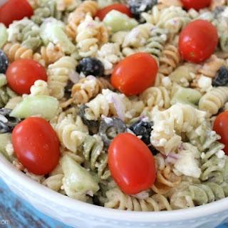 Caesar Pasta Salad {recipe} + Recipe Blog Hop.
