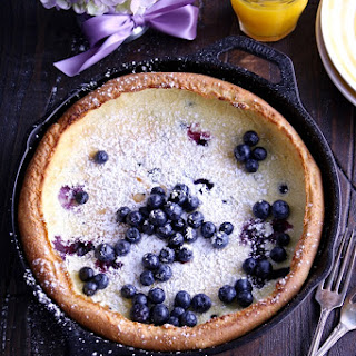 Blueberry Dutch Baby Pancake
