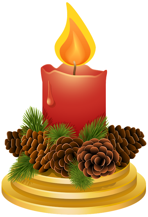 Christmas Candle With Pinecones GyONLmE1CQ51GD7KKiN9