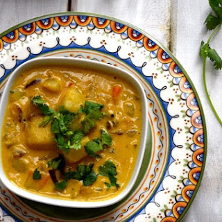 Kerala Style Potato Curry with Coconut Milk.