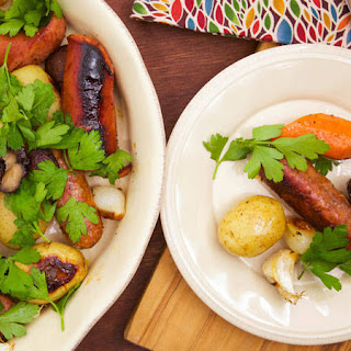 Jacques Pepin's Sausage, Potatoes, Onions and Mushrooms in Papillote.