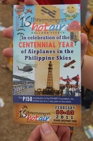 hot air balloon festival ticket