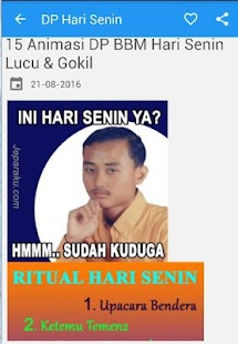 DP Hari Senin MEME Lucu - náhled