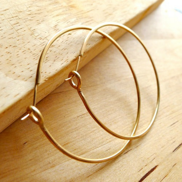 Large 14k Gold Hoops by Heavenly Gems