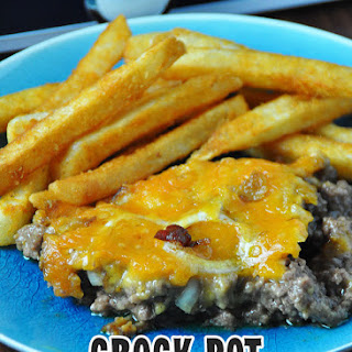 Crock Pot Bacon Cheeseburger Casserole.