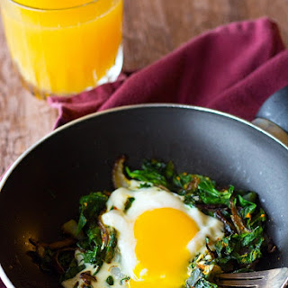 Persian Spinach and Eggs - Nargesi.