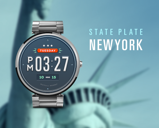 State Plate NY watchface