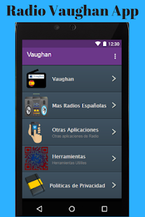 Radio Vaughan App - náhled