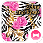 Süße Wallpaper Zebra and Roses icon