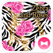 Zebra and Roses Wallpaper