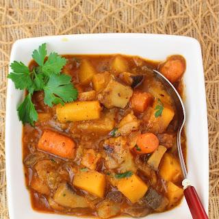 Healthy Vegan Vegetable Stew.