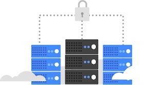 「ハイブリッド環境で機密データを非公開のまま保持する」のロゴ