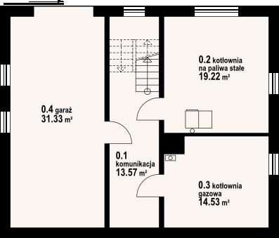 Jaworki 14m - Rzut piwnicy