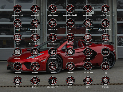 Wheels Red - Icon Pack screenshot 9