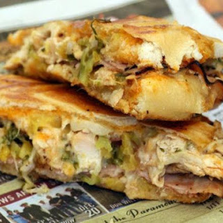 Outrageous Cuban Sandwich with Mojo sauce.