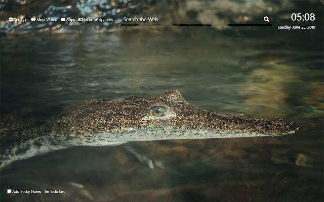 Alligator Wallpaper HD New Tab Theme