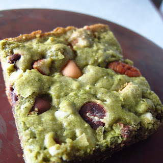 Ryan's Matcha Blondies with Chocolate Chips and Pecans