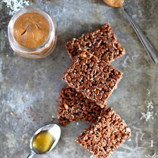 Healthy Cocoa Rice Crispy Squares.