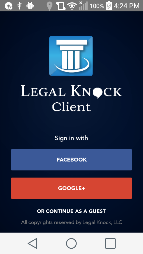 Legal Knock - Client App- screenshot
