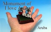 The monument of I love Aruba -Aruba-